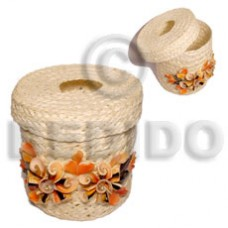 Banig Cylinder Tube Luhuanus Red Everlasting Weave GIFT AND DECORS BFJ073GD