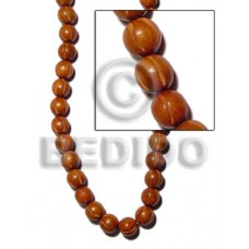 Bayong Wood 10 mm Groove Natural Round Wood Beads Carved Wood Beads BFJ137WB