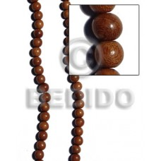 Bayong Wood 6 mm Round Brown Natural Beads Strands Hardwood Wood Beads - Round Wood Beads BFJ200WB