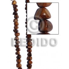 Bayong Wood Double Sided 10 mm 16 inches Beads Strands Wood Beads - Nuggets Wood Beads BFJ184WB