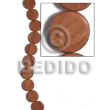 Bayong Wood Hardwood Flat Round/Coin Tablet 20 mm 16 inches Wood Beads - Flat Round and Oval Wood Beads BFJ471WB