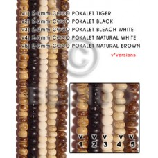 Black 16 inches Coconut Pokalet 2-3 mm Dyed Coco Dyed colored beads BFJ001PT_V2