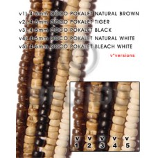 Black 16 inches Coconut Pokalet 4-5 mm Dyed Coco Dyed colored beads BFJ003PT_V3