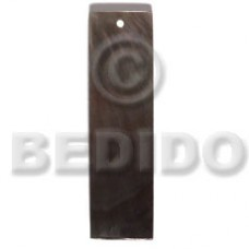 Black Lip Shell 40 mm Bar Black Pendants - Simple Cuts BFJ6236P