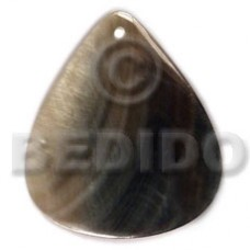 Black Lip Shell 40 mm Teardrop Black Pendants - Simple Cuts BFJ6250P