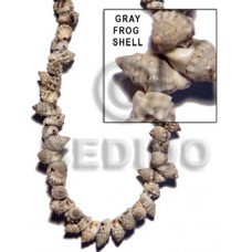 Gray 16 inches Frog Shell Shell Whole Shell Beads BFJ044SPS