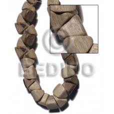 Graywood Barrel Double Slidecut 11 mm Gray 16 inches Beads Strands Wood Beads - Nuggets Wood Beads B
