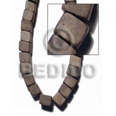 Graywood Slide Cube 12 mm Gray Wood Beads Dice and Sided Wood Beads BFJ427WB