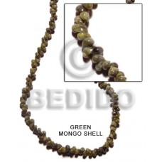 Green Mongo Green Shell 16 inches Shell Whole Shell Beads BFJ020SPS