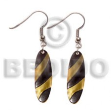 Mother of Pearl 40 mm Yellow Dangling MOP Shell Earrings BFJ5071ER