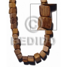 Robles Wood Slide Cube 12 mm Brown Wood Beads Dice and Sided Wood Beads BFJ426WB