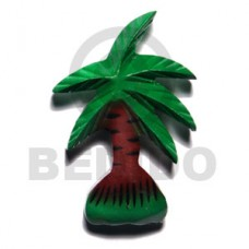 Wood Hand Painted Coconut Tree 80 mm Refrigerator Magnets BFJ027RM