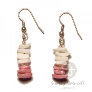 White Rose Shell Earrings