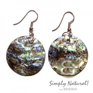 Round Paua Shell Earrings
