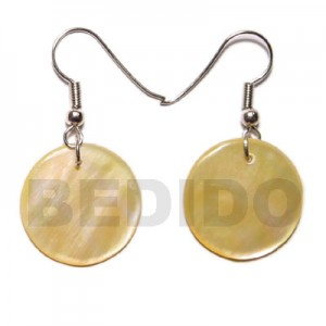 Round MOP shell earrings
