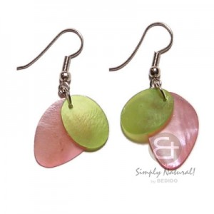 Colored Hammershell Earrings