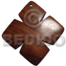 45 mm Bayong Wood Cross Brown Pendants - Wooden Pendants BFJ6115P