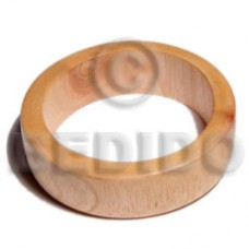 Ambabawd Wood 65 mm Inner Diameter / Outer 105 mm Natural Coated Bangles - Wooden Bangles BFJ100BL