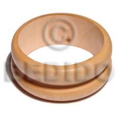 Ambabawd Wood 65 mm Inner Diameter / Outer 105 mm Natural Coated Bangles - Wooden Bangles BFJ203BL