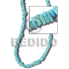 Aqua Blue 16 inches Coconut Square Cut 8 mm Dyed Coco Square Cut Beads BFJ006CSQ