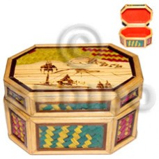 Bamboo Pandan Box Medium Weave Jewelry Box BFJ013JB