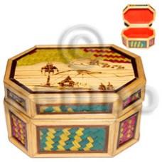 Bamboo Pandan Box Medium Weave Jewelry Box BFJ013JB
