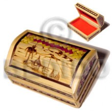Bamboo Pandan Box Small Weave Jewelry Box BFJ020JB