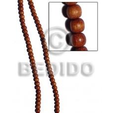 Bayong Wood 4-5 mm Round Brown Natural Beads Strands Wood Beads - Round Wood Beads BFJ171WB