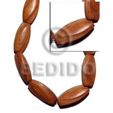 Bayong Wood 40 mm Brown Twist Wood Beads Carved Wood Beads BFJ337WB
