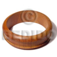 Bayong Wood 65 mm Inner Diameter / Outer 105 mm Natural Bangles - Wooden Bangles BFJ095BL