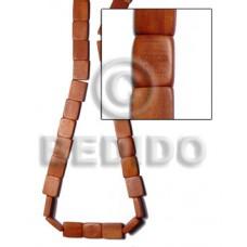 Bayong Wood Hardwood Flat Square 20 mm Brown Wood Beads - Flat Square Wood Beads BFJ276WB