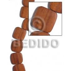Bayong Wood Hardwood Flat Square Round Edges 25 mm Wood Beads - Flat Square Wood Beads BFJ480WB