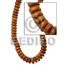 Bayong Wood Mentos 16 mm Brown Wood Beads - Teardrop and Oval Wood Beads BFJ138WB