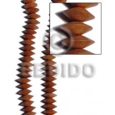 Bayong Wood Saucer 6 mm Brown Beads Strands Wood Beads - Saucer and Diamond Wood Beads BFJ251WB