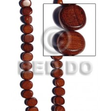 Bayong Wood Slice Melon 15 mm Brown Wood Beads - Nuggets Wood Beads BFJ218WB
