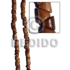 Bayong Wood Slide Cut 11 mm Brown Beads Strands Wood Beads - Slide Cut BFJ249WB