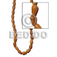 Bayong Wood Teardrop 10 mm Brown Hardwood Wood Beads - Teardrop and Oval Wood Beads BFJ145WB