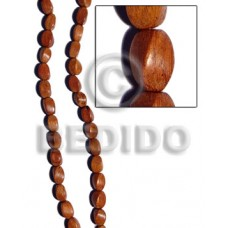 Bayong Wood Twist 10 mm Brown Beads Strands Wood Beads - Twisted Wood Beads BFJ060WB