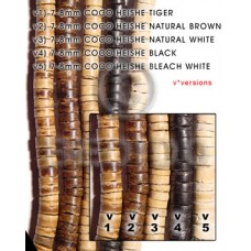 Black 16 inches Coconut Heishi 7-8 mm Dyed Coco Heishe Beads BFJ013CH_V4