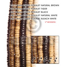 Black 16 inches Coconut Pokalet 7-8 mm Dyed Coco Dyed colored beads BFJ014PT_V3