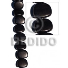 Black 16 inches Kamagong Wood Saucer 22 x 27 x 12 mm Natural Wood Beads Dice and Sided Wood Beads BFJ039WB