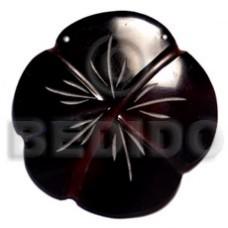 Black Black Tab Shell Gumamela Scallop 70 mm Natural Pendants - Shell Pendants BFJ5050P