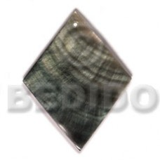 Black Lip Shell 40 mm Diamond Black Pendants - Simple Cuts BFJ6215P