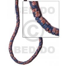 Blue 4-5 mm Coconut Heishi Painted Coco Heishe Beads BFJ030SPL
