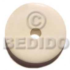 Bone Round Natural White 40 mm Pendants - Bone Horn Pendants BFJ5619P