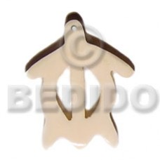 Bone Turtle Natural White 50 mm Pendants - Bone Horn Pendants BFJ5694P