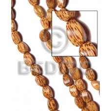 Brown 16 inches Palmwood Twist 10 x 15 mm Natural Wood Beads - Twisted Wood Beads BFJ031WB