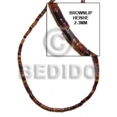 Brown Brown Lip Shell 16 inches Heishi Shell Heishe Shell Beads BFJ024HS