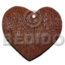 Brown Heart Wood Painted Pendants - Wooden Pendants BFJ6093P