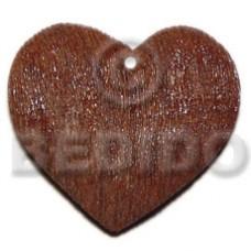 Brown Heart Wood Painted Pendants - Wooden Pendants BFJ6093P